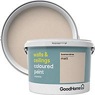 GoodHome Walls & ceilings Buenos aires Matt Emulsion paint, 2.5L