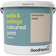 GoodHome Walls & ceilings Buenos aires Matt Emulsion paint, 5L