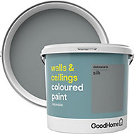 GoodHome Walls & ceilings Delaware Silk Emulsion paint, 5L