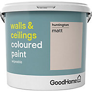 GoodHome Walls & ceilings Huntington Matt Emulsion paint, 5L
