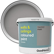 GoodHome Walls & ceilings Long island Matt Emulsion paint 5L
