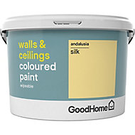 GoodHome Walls & ceilings Andalusia Silk Emulsion paint, 2.5L