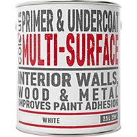 Colours White Multi surface Primer & undercoat 2.5L