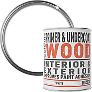 Colours White Wood Primer & undercoat, 0.75L