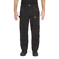 "Site Beagle Black Men's Trousers, One size W38"" L32"""