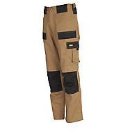 "Site Pointer Black & stone Men's Trousers, W32"" L32"""