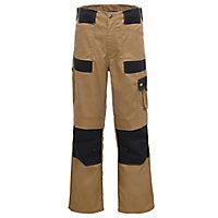"Site Pointer Black & stone Men's Trousers, W34"" L32"""
