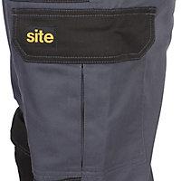 """Site Harrier Black & grey Men's Trousers, W34"""" L32"""""""