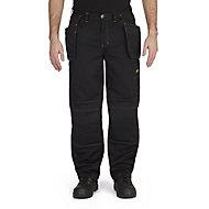 "Site Coyote Black Men's Multi-pocket trousers, One size W32"" L32"""