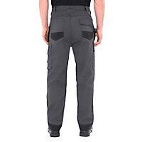 "Site Jackal Black & grey Men's Trousers, W32"" L32"""