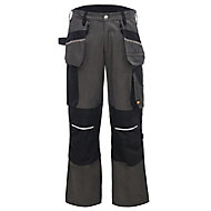"Site Tanuki Black & grey Trousers, W38"" L32"""