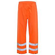Orange Waterproof Hi-vis trousers Large