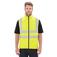 Yellow Hi-vis bodywarmer Medium