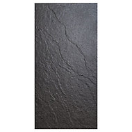 Chambly Black Matt Stone effect Porcelain Wall & floor tile, Pack of 7, (L)600mm (W)300mm