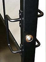 Industrial Powder coated Black Door, (H)2040mm (W)830mm
