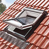 Site Anthracite Aluminium & lead Tile Flashing, (L)1.18m (W)1.14m