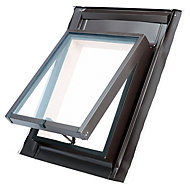 Site Anthracite Aluminium Top hung Skylight (H)550mm (W)450mm