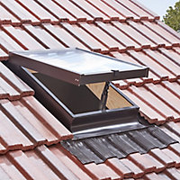 Site Anthracite Aluminium alloy LH Side hung Skylight, (H)600mm (W)470mm
