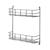 GoodHome Datil 2 tier Anthracite Steel Shelving