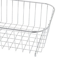 GoodHome Datil Steel Chrome effect Wire basket, (W)355mm