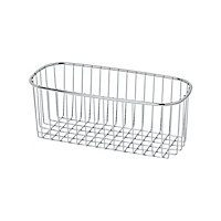 GoodHome Datil Steel Chrome effect Wire basket, (W)270mm