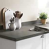 GoodHome 38mm Kala Matt Carnival Stone effect Laminate Square edge Kitchen Worktop, (L)3000mm