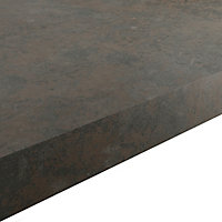 GoodHome 38mm Kala Matt Carnival Stone effect Laminate & particle board Square edge Kitchen Worktop, (L)3000mm