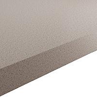 GoodHome 38mm Kala Matt Light Quartz Stone effect Laminate & particle board Square edge Kitchen Worktop, (L)3000mm