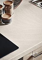 GoodHome 38mm Kabsa Matt Travertine Travertine effect Laminate Round edge Kitchen Worktop, (L)3000mm