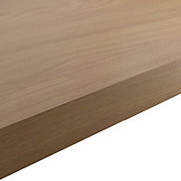 GoodHome 38mm Kala Matt Brown Oak effect Laminate Square edge Kitchen Breakfast bar Worktop, (L)2000mm