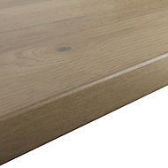 GoodHome 38mm Kabsa Matt Rustic Wood effect Laminate Round edge Kitchen Breakfast bar Worktop, (L)2000mm