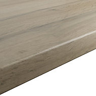 GoodHome 38mm Kabsa Matt Wood effect Laminate Round edge Kitchen Breakfast bar Worktop, (L)2000mm