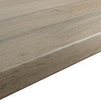 GoodHome 38mm Kabsa Matt Wood effect Laminate Round edge Kitchen Breakfast bar Worktop, (L)2000mm