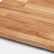 27mm Kava Natural Solid timber Square edge Kitchen Worktop, (L)3000mm