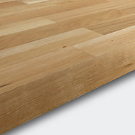 40mm Hinita Natural Solid oak Square edge Kitchen Worktop, (L)3000mm