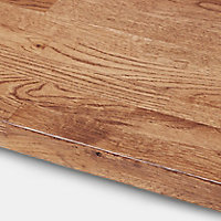 40mm Hinita Natural Solid oak Square edge Kitchen Island Worktop, (L)3000mm