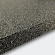38mm Berberis Gloss Grey Glitter effect Laminate & particle board Square edge Kitchen Breakfast bar Worktop, (L)2000mm