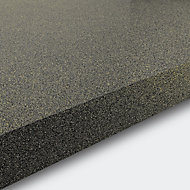 GoodHome 38mm Berberis Gloss Grey Glitter effect Laminate & particle board Square edge Kitchen Breakfast bar Worktop, (L)2000mm