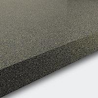 GoodHome 38mm Berberis Gloss Grey Glitter effect Laminate & particle board Square edge Kitchen Breakfast bar Worktop, (L)2000mm
