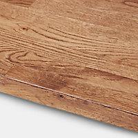 40mm Hinita Natural Solid oak Square edge Kitchen Island Worktop, (L)1800mm