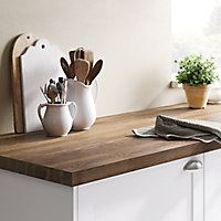 40mm Hinita Natural Solid oak Square edge Kitchen Breakfast bar Worktop, (L)2000mm