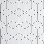 GoodHome Nepeta White Resin Back panel, (H)1800mm (W)600mm (T)3mm