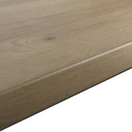 GoodHome 38mm Kabsa Matt Rustic Wood effect Laminate Round edge Kitchen Worktop, (L)3000mm