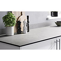 GoodHome 12mm Nepeta Matt Grey Paper & resin Square edge Kitchen Worktop, (L)2000mm