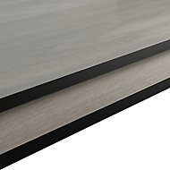 GoodHome 12mm Nepeta Matt Wood effect Paper & resin Square edge Kitchen Breakfast bar, (L)2000mm