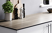 GoodHome 12mm Nepeta Matt Wood effect Resin Square edge Kitchen Breakfast bar, (L)2000mm