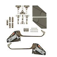 GoodHome Bi fold kit A Grey Soft-close Cabinet hinge
