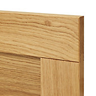 GoodHome Verbena Natural oak shaker Drawer front (W)400mm, Pack of 4