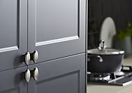 GoodHome Chervil Brushed Nickel effect Acrylic & aluminium Cabinet Handle (L)32mm, Pack of 2