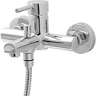 GoodHome Lazu Chrome-plated Bath Shower mixer Tap